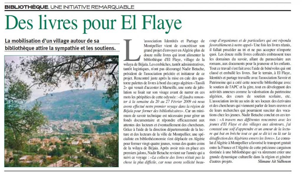 Des livres pour El-Flaye des-livres